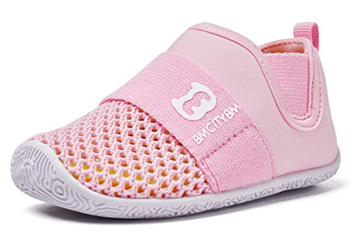 BMCiTYBMBaby Sneakers Girls Boys Mesh First Walkers Shoes, Z-Pink, 6-12 Months Infant