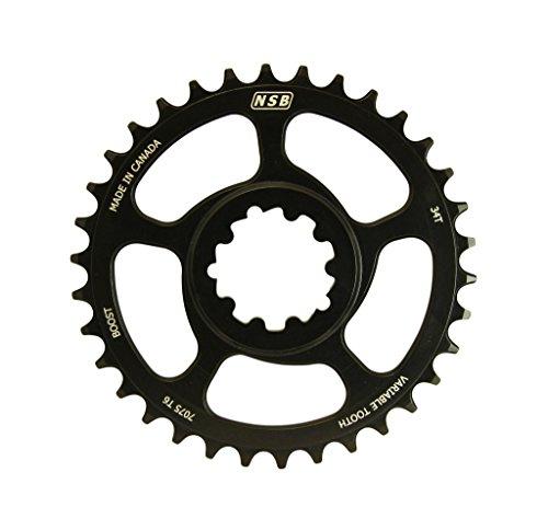 NSB CR3412-B Plateau de vélo Mixte Adulte, Noir