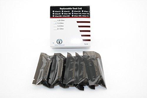 Original Innokin Prism Replaceable Dual Coil mit 1.5 Ohm - 5 Stück / Ersatz Coils für Prism T18 & T22 Atomizer