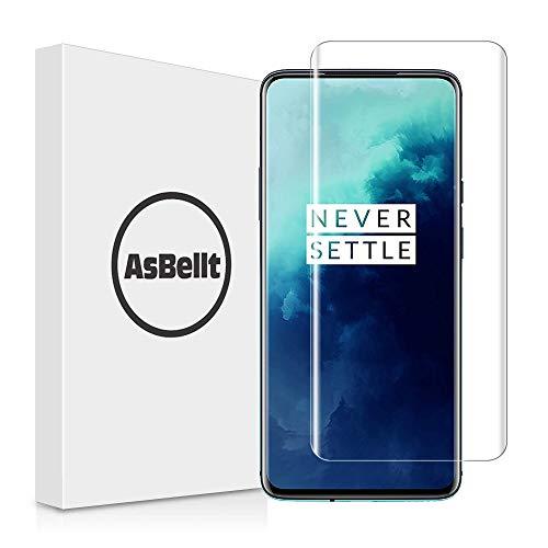 AsBellt Protector Pantalla de OnePlus 7T Pro/ 7 Pro (9H Dureza)(Pegamento en Toda la Pantalla) (Alta sensibilidad),Cristal Vidrio Templado/Protector de Pantalla para OnePlus 7T Pro/ OnePlus 7 Pro
