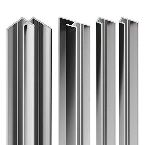 Schulte EP1901121 41 Profilset Verbindungsprofile Decodesign Duschrückwände, Wandverkleidung, chromoptik, 210 cm