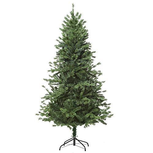homcom 180cm Albero di Natale, Pino Artificiale con Rami 696, Base Pieghevole Rimovibile, Verde