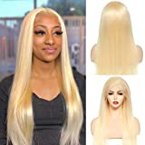 613 Blonde Lace Front Wig Human Hair 13x4 Straight Lace Front Wigs...