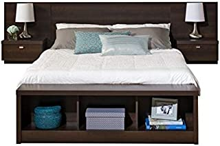 BOWERY HILL King Platform Storage Bed with Floating Headboard