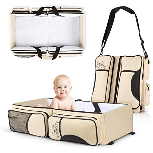 Koalaty 3-in-1 Universal Baby Travel Bag: Portable Bassinet Crib, Changing Station, and Diaper Bag for Newborns or Infants. The Best for New mom and dad.
