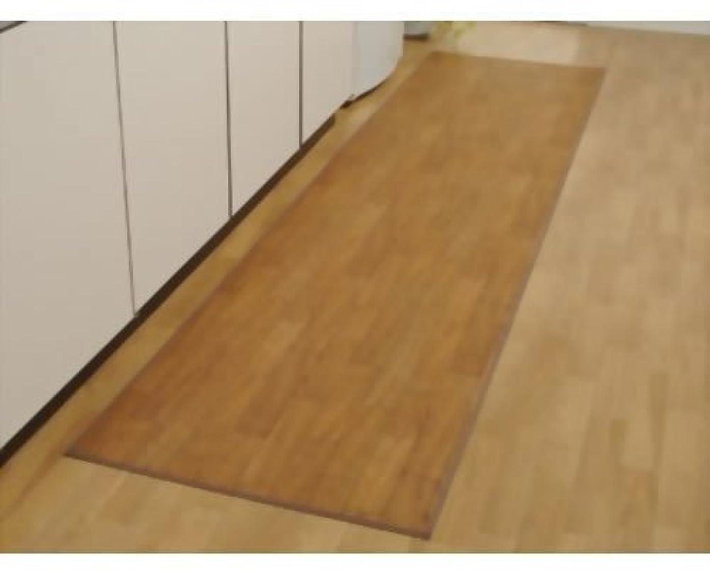 追い越すタンパク質取り除く萩原工業(Hagihara) キッチンマット ブラウン 60×200cm