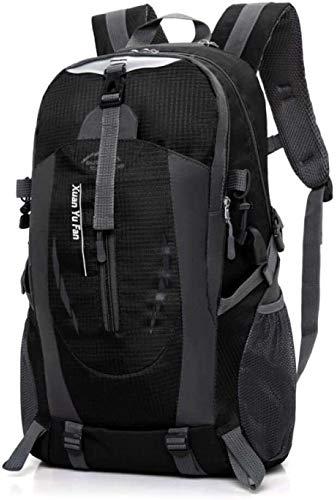 Mochila de la personalidad de moda Morral al aire libre de gran capacidad senderismo escalada deportiva bolsa de montar el ocio bolsas de viaje con el puerto de carga USB 40L, color: verde Ligera moch