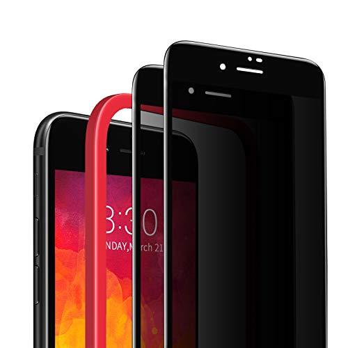 SAEYON [2 Pezzi Privacy Pellicola Protettiva in Vetro Temperato Anti-Spy per Apple iPhone SE 2020/8/ 7, 3D Copertura Completa Anti-Spia Protezione Schermo per iPhone SE 2020/8/ 7 di 4,7', Nero