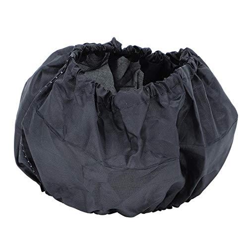 Socobeta Cubierta protectora para rueda de cochecito de bebé de acabado fino, resistente al polvo, compacta, desmontable con cierre de velcro (después)