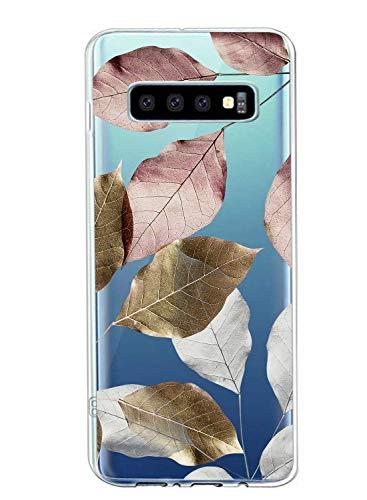 Suhctup Compatible con Samsung Galaxy S7 Edge Funda Flor de TPU Transparente Diseño de Flores Patrón Cárcasa Ultra Fina Suave con Dibujos Claro Silicona Antigolpes Proteccion Caso(A7)