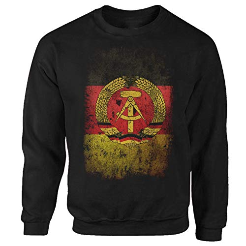 Tex-Ha DDR Fahne schwarz Sweatshirt (S)