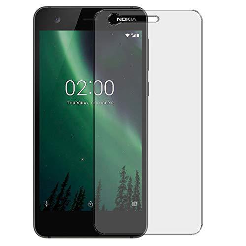 Conie 9H2468 9H Panzerfolie Kompatibel mit Nokia 2, Panzerglas Glasfolie 9H Anti Öl Anti Fingerprint Schutzfolie für Nokia 2 Folie HD Clear