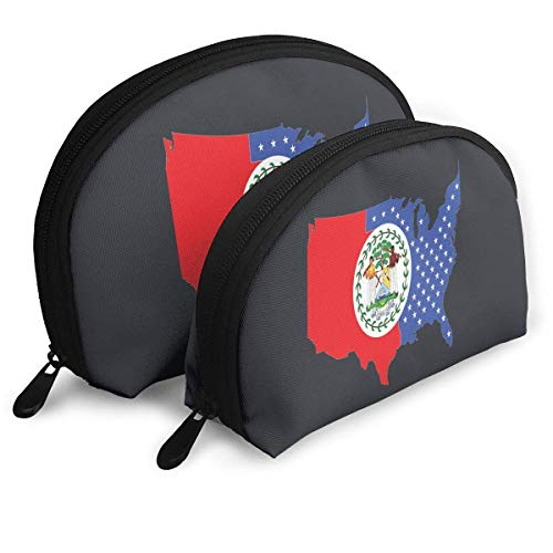 JUKIL Belize National Emblem Borse portatili Pochette Pochette Portamonete da viaggio cosmetico