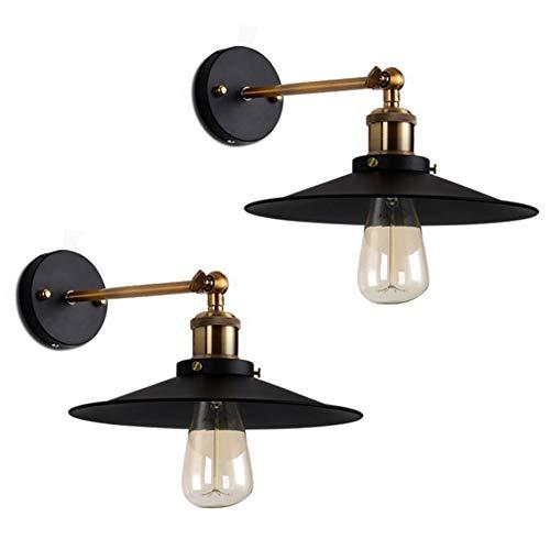 Lucoss Industriale Lampada Da Parete Moderna Applique Vintage Retro Edison Specifiche 2 pacchi Della Lampada LED E27 (Lampadina non inclusa)