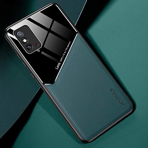 LWL House Caso para Huawei Honor X10 MAX 5G Cuero Todo Incluido + Funda Protectora de Vidrio orgánico con Chapa de Hierro metálico (Color : Green)