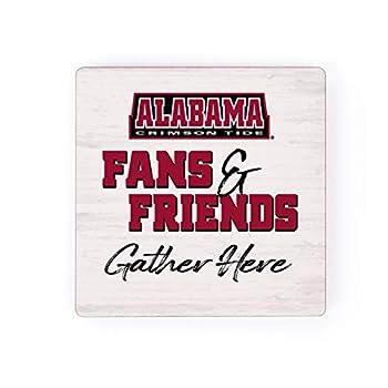 University of Alabama Crimson Tide Fans and Friends 2.75 x 2.75 Wood Magnet