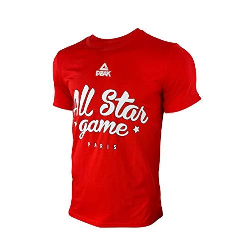Ligue Nationale de Basket T-Shirt Rouge All Star Game 2019 Camiseta, Rojo,...