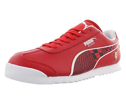 PUMA Men's Ferrari Roma Sneaker, Rosso Corsa Black, 10 M US