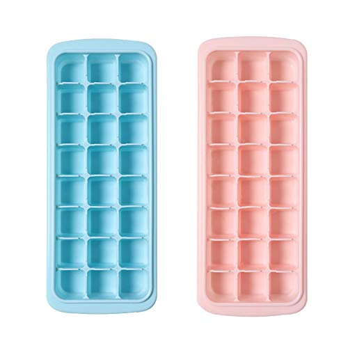 2-pack babyvoeding-opslagcontainer Diepvriesladen, siliconen diepvrieslade met verwijderbaar clip-on deksel, zelfgemaakte babyvoeding, groente- en fruitpuree en moedermelk