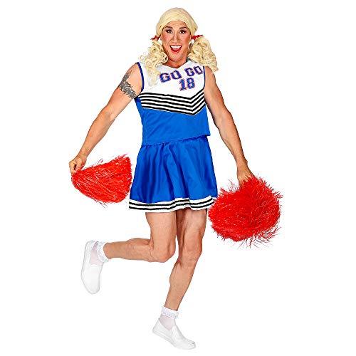 Widmann 11012447 Herrenkostüm Cheerleader, Herren, Blau/Weiß, XL