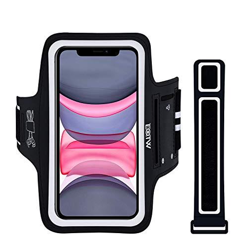 Sportarmband Handy Universal, EOTW Armtasche Kompatibel mit iPhone 12/11/11 Pro Max/XR/XS Max Huawei P30 Pro/Mate 30 Samsung Galaxy S20/S10/Note 10 Handytasche für Joggen Running (5''-6,7