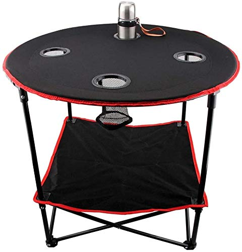 Beach chair 4 Mesh Cup Holders Portable Lightweight Canvas Folding Table Padded Round Metal Tear Resista nce For Family Garden Mountaineering