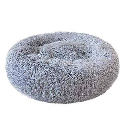 Deloito - Cama para Mascotas, Suave, Felpa, Animales, Gatos, cómodo, cojín elástico, Cama para Perros, Cachorros, Redonda, para Dormir, sofá, Cama