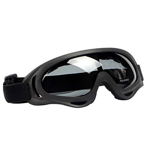 Beetest Lunettes de Motocross, 2 pcs Protection UV Anti-Rayures Coupe-Vent Moto Lunettes Lunettes Polarisées pour Snowboard Ski Vélo Équitation Sports De Plein Air
