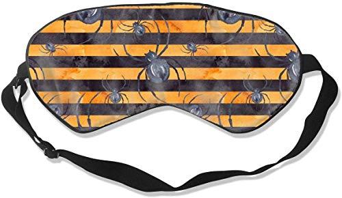 Super gladde zijde oog masker, verduistering verstelbare slaap masker voor slapen verschuiving werk Naps reizen meditatie blinddoek oogkap, geen druk spin oranje streep oogschaduw