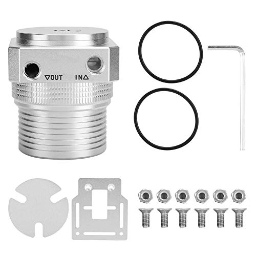 Computer Waterkoeling Pomp Cover Set, Aluminium Blok PC Koeler Pomp Cover Suppot 60 MM Buitendraad Watertank voor het oplossen van lekkage, Hoge temperatuur, Verleng de levensduur van de pomp, enz