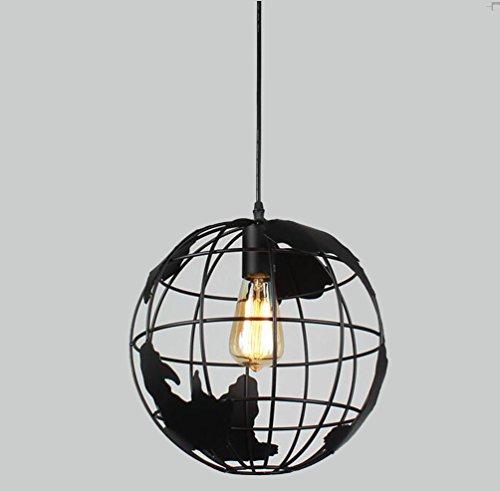 Sanlise Pendelleuchte Kronleuchter Hängelampe Globus Deckenleuchte Industrie Loft Modern für Arbeitszimmer Esszimmer Wohnzimmer Flur Speiselokal höhenverstellbar mit Glühbirne Dur 30cm