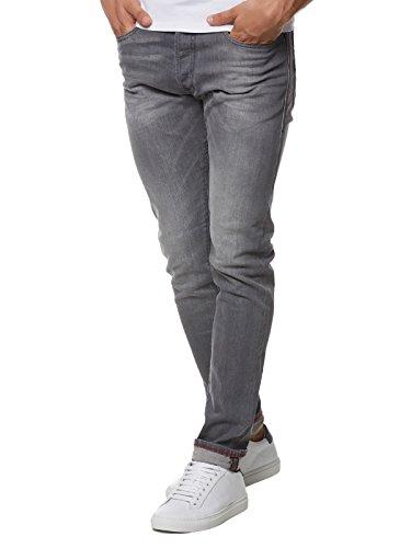 DIESEL 00ckri Jean Slim, Gris (Grey), W28/L32 (Taille Fabricant: 28) Homme