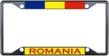 Sign Destination Metal Insert License Plate Frame Romania Flag Country Style A Weatherproof product image