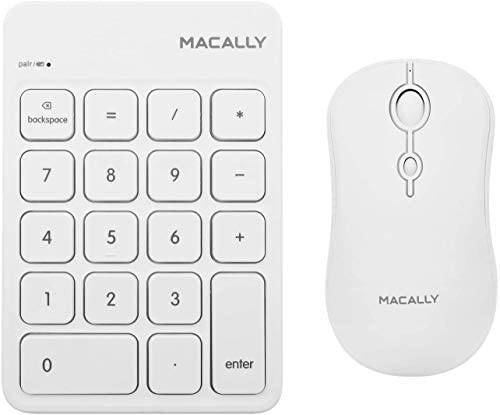 Macally Rechargeable Bluetooth Number Pad and Mouse Combo Workflow Improving Add ons 10 Key product image