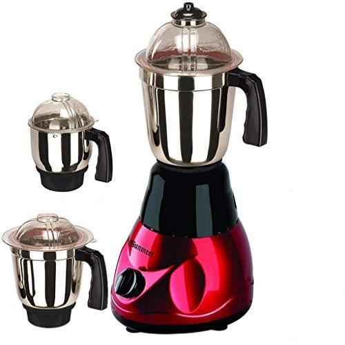 Sunmeet Mixer Juicer Grinder, 1000W, 3 Jars (Black Red)