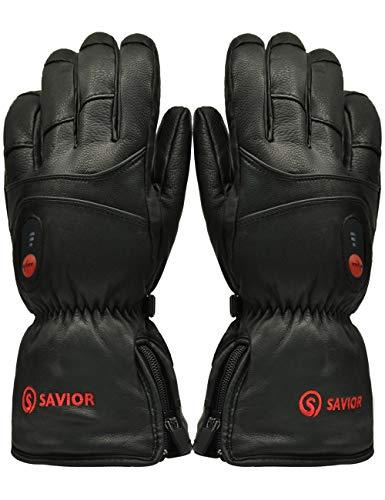 SAVIOR beheizte Handschuhe mit wiederaufladbare Lithium-Ionen-Batterie Beheizt für Männer und Frauen, arbeitet bis zu 2,5-6 Stunden (XL)