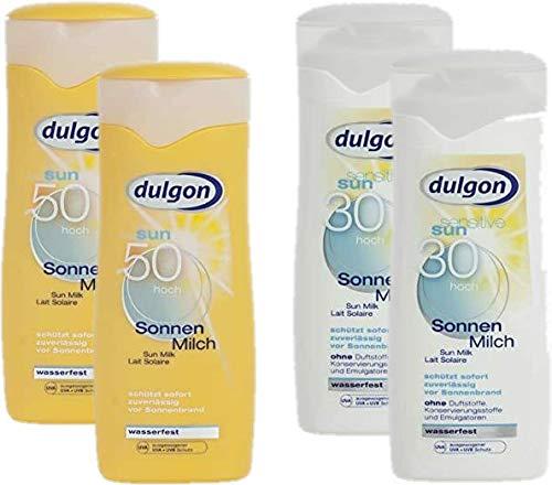 dulgon Sonnencreme Kinder Sparset 2xLSF30 Sonnenmilch 250ml + 2xLSF50 Milch Sensitiv 250ml
