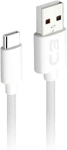 Cabo USB-USB C C3Plus, 2Metros, Branco, 2A, Cb-C21Wh