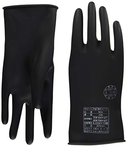 ワタベ 低圧ゴム手袋(薄手タイプ)直流750V以下 505