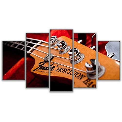 5 Piezas De Lienzo De Arte De Pared Fender Precision Bass Guitar...