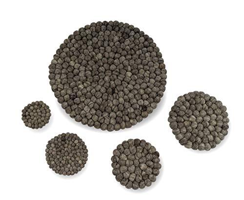 Hess Filzuntersetzer Satin 17 cm, schwarz