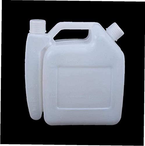 Mnjin Exquisita Botella mezcladora de Combustible de Gasolina y Aceite de 2 Tiempos Contenedor de Tanque de 2 l 25: 1 50: 1 para Motosierra Strimmer Nuevo