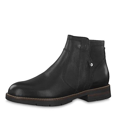 Tamaris Damen Stiefeletten 25421-23, Frauen Ankle Boots, Damen Frauen weibliche Ladies feminin elegant Women's Women Woman leger,Black,37 EU / 4 UK