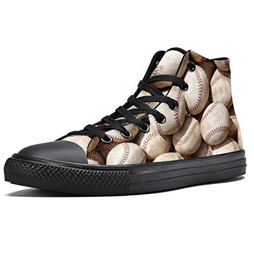 LORVIES Baseballschuhe, hohe Sneaker, Segeltuch, für Herren, Sportschuhe, - mehrfarbig - Größe: 45 EU
