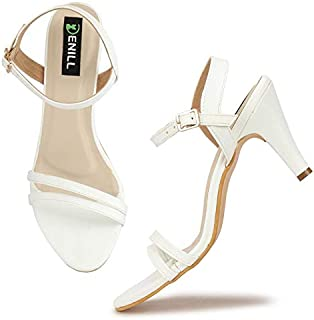 White Women's Fashion Sandals: Buy