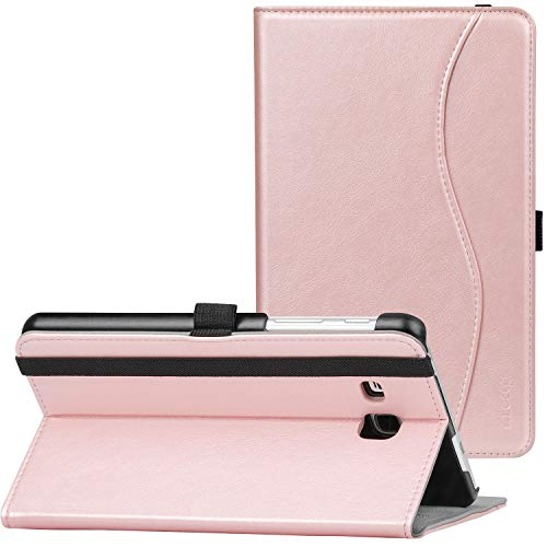 Ztotop Case for Samsung Galaxy Tab A 7.0 2016 Release, Stand Folio Leather Tablet Cover for SM-T280/SM-T285, Pencil Holder and Multiple Viewing Angles, Rose Gold