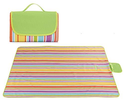 145 * 200Cm Picnic Mat Camp Tapijtmachine kan worden gewassen, vochtbestendig, waterdicht en duurzaam 145 * 200cm Rainbow band