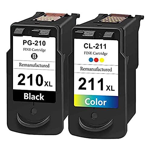 SVUZU Cartuchos De Tinta Compatibles para Canon 210 XL 211 XL Reemplazo, Trabajo De Alto Rendimiento con PIXMA MP240 MP250 MP270 MP272 MP47 MP420 Impresora MP420