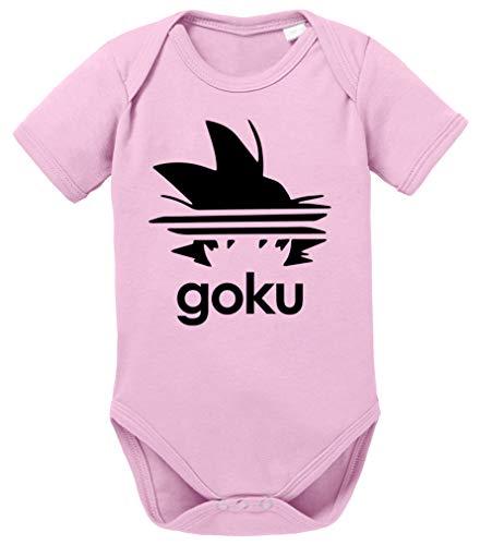 Adi Goku Dragon Son Baby Ball Strampler Bio Baumwolle Body Jungen & Mädchen 0-12 Monate, Größe:80/10-12 Monate, Farbe:Rosa
