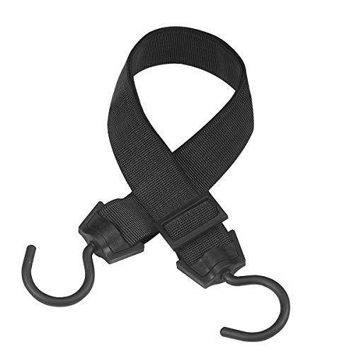 Master Lock 3245EURDAT Gummi-Spannseil mit Giant Rotative Hook [120 cm langes Spannseil] [Giant Rotative Hook] - Ideal zum Transportieren, Verpacken und Sichern von Lasten